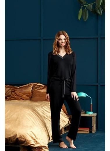 Penye Mood Pijama Takım Siyah